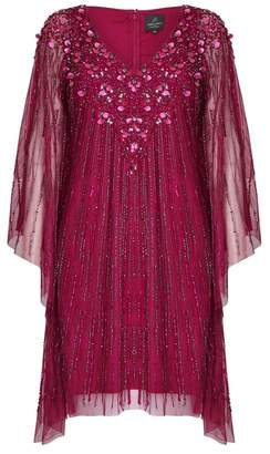 Adrianna Papell Beaded Short Kaftan