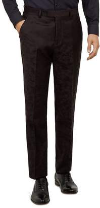 Ted Baker Pashion Camo-Jacquard Slim Fit Wool Trousers