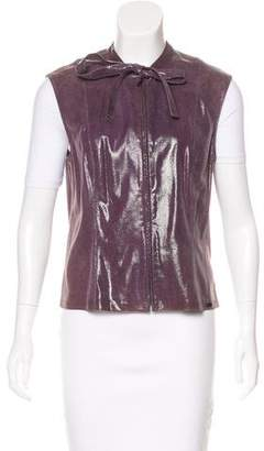 Chanel Embossed Leather Vest