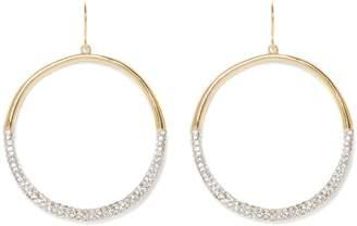 Vince Camuto Jeweled Drop Hoop Earrings