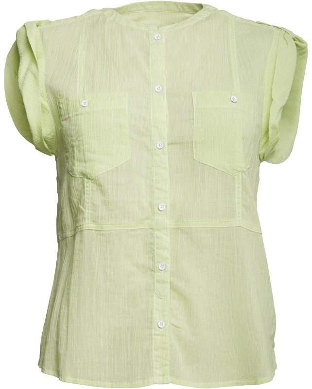 Damen Hemd mit kurzem Arm Lindgrün