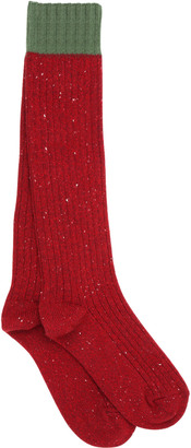 Stretch Heavy Wool Rib Knit Socks $155 thestylecure.com