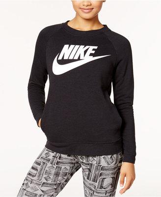 Nike Sportswear Modern Fleece Logo Sweatshirt $70 thestylecure.com
