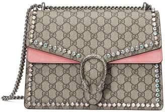 Gucci Dionysus GG Supreme shoulder bag with crystals