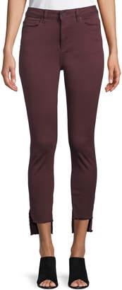 DL1961 Premium Denim Chrissy Step-Hem Skinny Jeans
