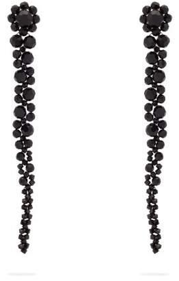 Simone Rocha Beaded Tassel Drop Earrings - Womens - Black