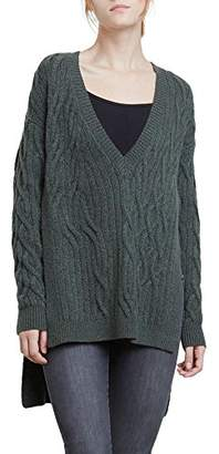 Kenneth Cole Women's Irregular Cable Tunic Sweater