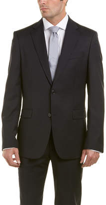Versace Wool-Blend Suit With Flat Front Pant