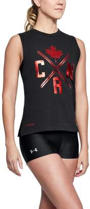 Under Armour Women's UA Team Canada Performance Graphic Muscle Tank