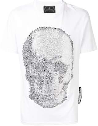 Philipp Plein crystal skull embellished T-shirt