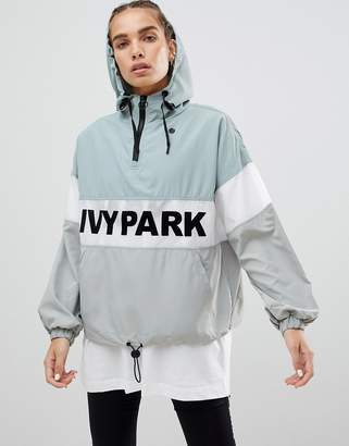 Ivy Park Sheer Panel Flocked Jacket In Mint