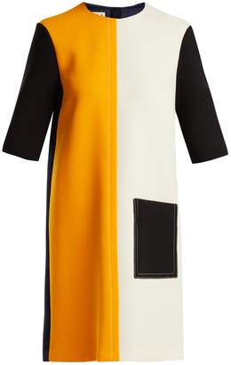 Marni Colour-block wool dress