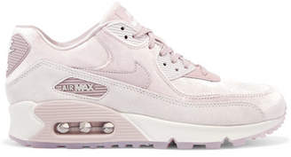 Nike Air Max 90 Lx Velvet And Suede Sneakers - Blush