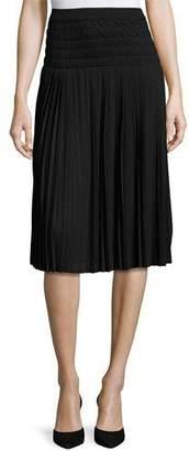 Joan Vass Pleated Knee-Length Skirt