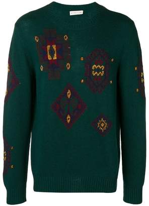 Etro embroidered fitted sweater