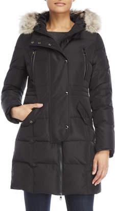 Ookpik Real Fur Trim Hooded Adelyna Coat