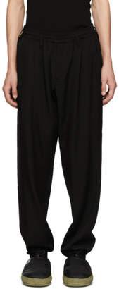Yohji Yamamoto Black Gabardine Trousers