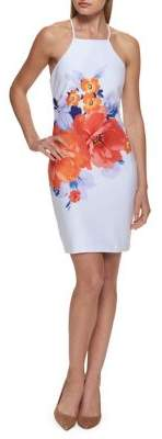 GUESS Floral Print Sheath Dress