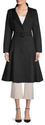 Oscar de la Renta Belted Wool & Cashmere Coat