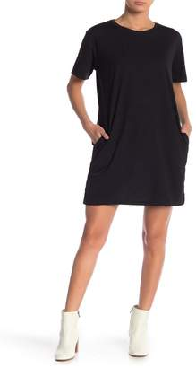 Cotton Emporium Solid T-Shirt Pocket Dress
