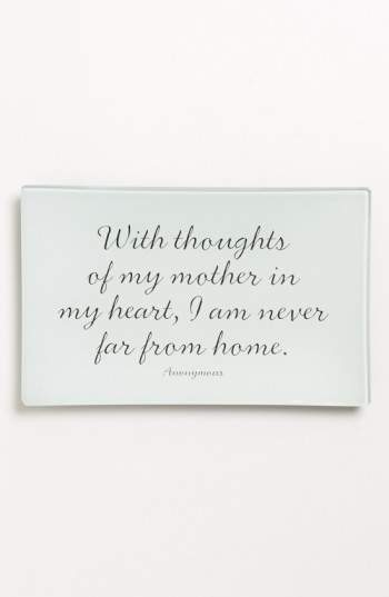 'With Thoughts of My Mother' Trinket Tray