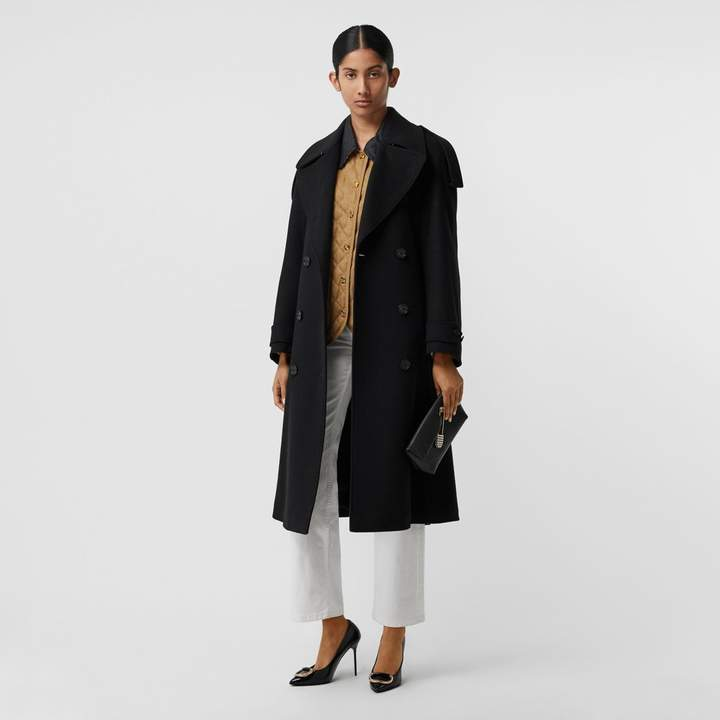 Wool Cashmere Double-breasted Coat