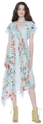 Alice + Olivia Kadence Asymmetrical Godet Dress