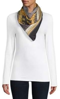 Versace Tile Print Silk Neck Scarf