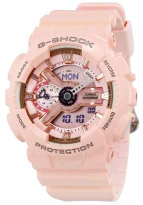 Casio G-Shock Pink Analog Digital Ladies Watch GMAS110MP-4A1