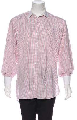 Turnbull & Asser Contrast Plaid French Cuff Shirt