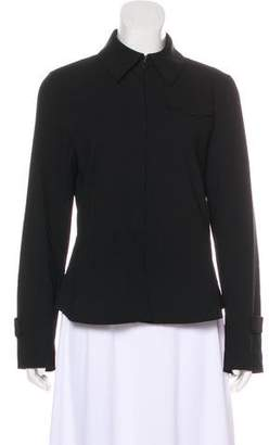 Akris Punto Wool Button-Up Top
