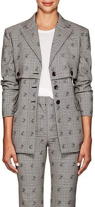 Altuzarra Women's Neil Floral-Checked Wool-Blend Blazer