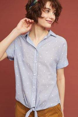Cloth & Stone Clip-Dot Shirt