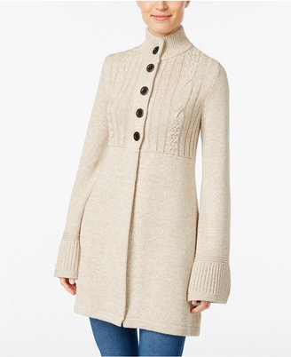 Style & Co. Cable-Knit Marled Cardigan, Only at Macy's $69.50 thestylecure.com