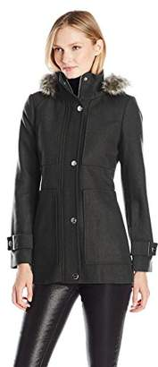 Kenneth Cole Women's Wool Baby Doll Coat $130 thestylecure.com