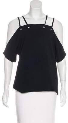Ramy Brook Short Sleeve Cold-Shoulder Top