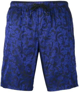 Versace Baroque embroidered swimming shorts