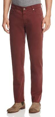 AG Jeans The Graduate Slim Straight Fit Pants in Deep Mahogany