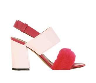 Givenchy Pink Fur Sandals