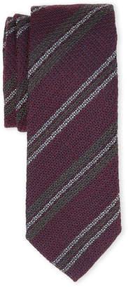 Burberry Purple Stripe Silk Tie