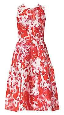 Carolina Herrera Women's Sleeveless Floral A-Line Dress