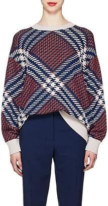 Dries Van Noten Women's Geometric-Pattern Wool-Blend Oversized Sweater