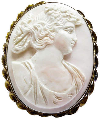 One Kings Lane Vintage Angel Skin Coral Cameo Pendant Pin - Treasure Trove NYC