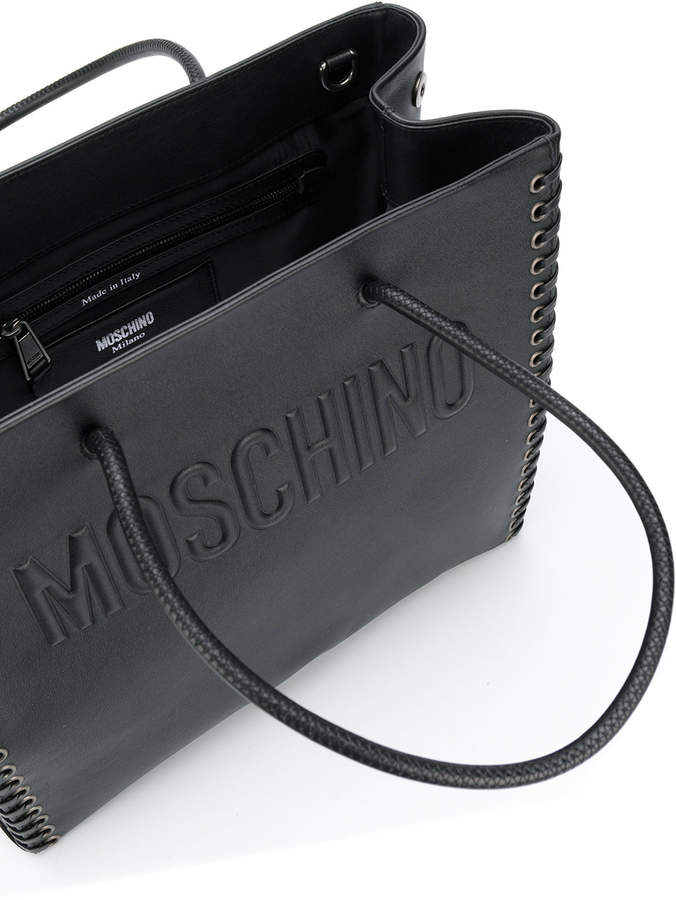moschino handtasche mit sen damen. Black Bedroom Furniture Sets. Home Design Ideas
