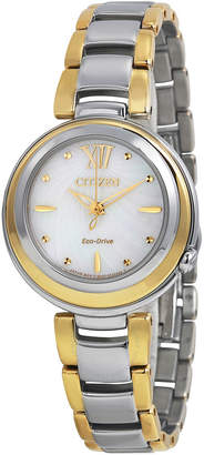 Citizen Eco Drive Sunrise Mother of Pearl Dial Ladies Watch