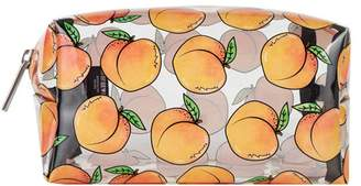 clear Skinnydip Peachy Makeup Bag