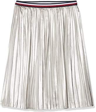 Tommy Hilfiger Girl's H Metallic Skirt (Silver 059)