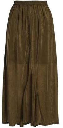 McQ Crinkled-Sateen Midi Skirt