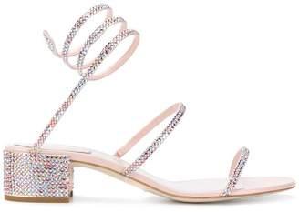 Rene Caovilla spiral sandals
