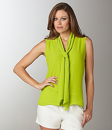 Vince Camuto Sleeveless Bow Blouse